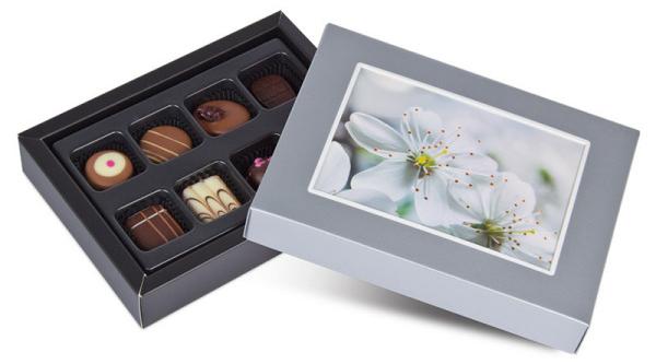 ChocoPostcard-Mini-Silber Zauberhafte Traumhochzeiten mit Gastgeschenken von CHOCOLISSIMO