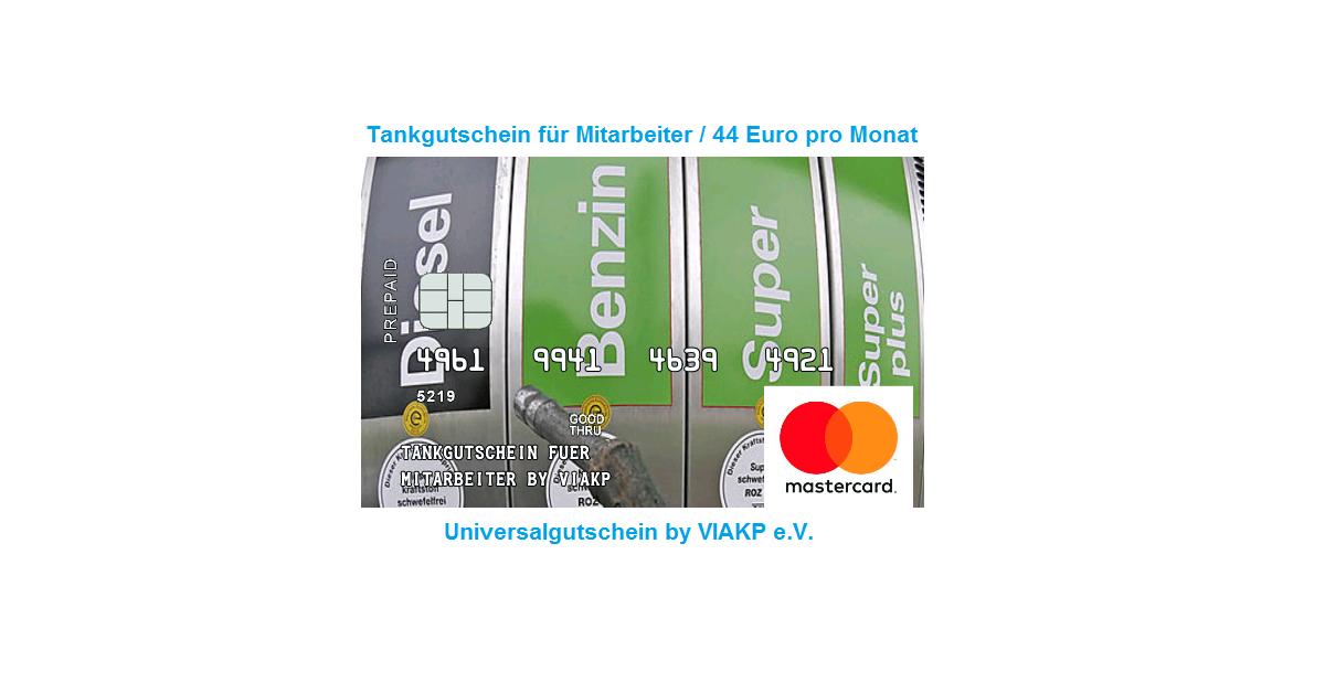 Universalgutschein für Mitarbetier bis 44 € pro Monat