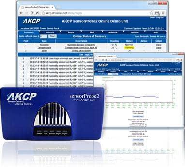 IT-Infrastruktur Monitoring mit AKCP sensorProbe2