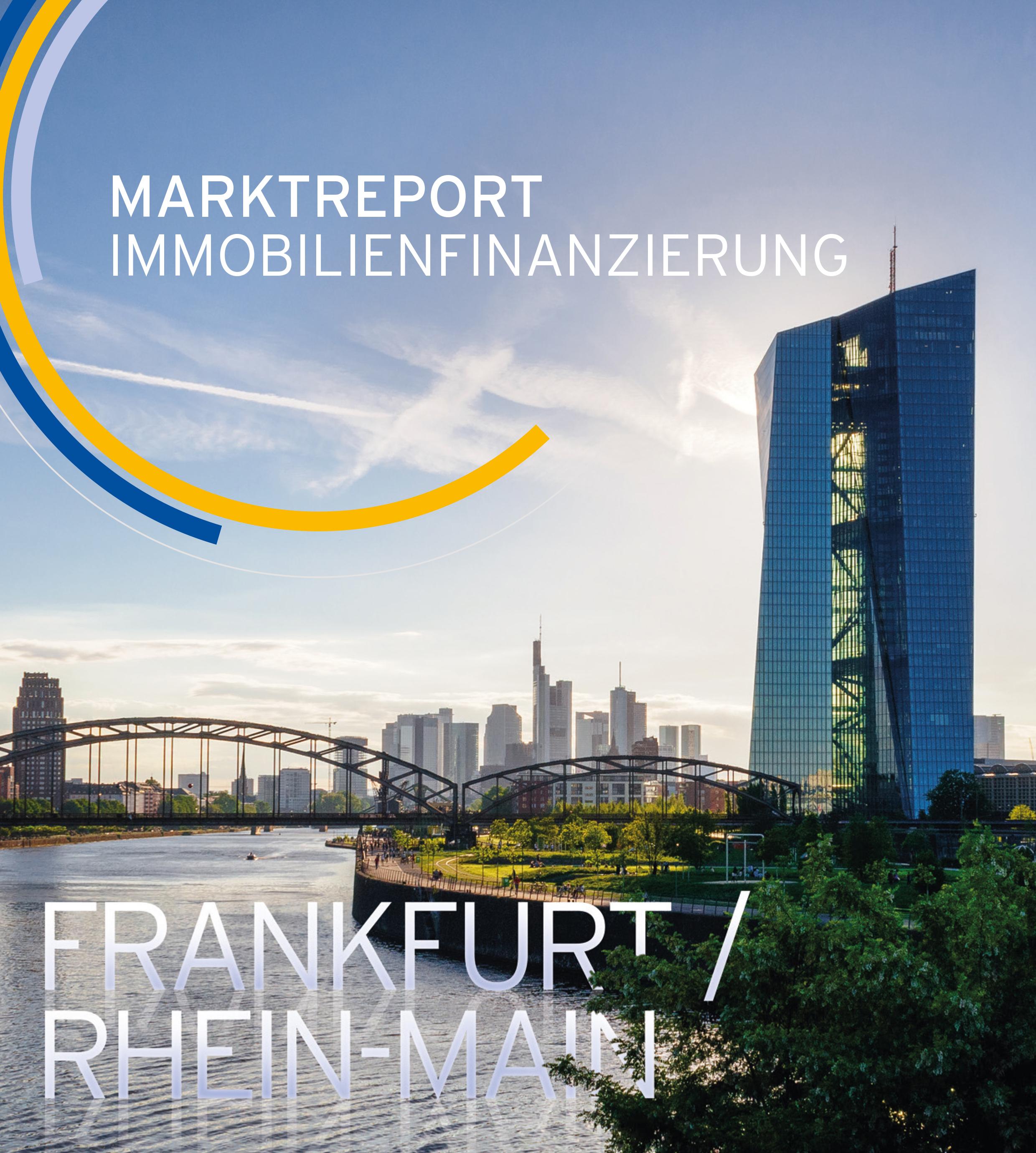 """Titelblatt des Marktreports """"Immobilienfinanzierung Frankfurt / Rhein-Main"""""""