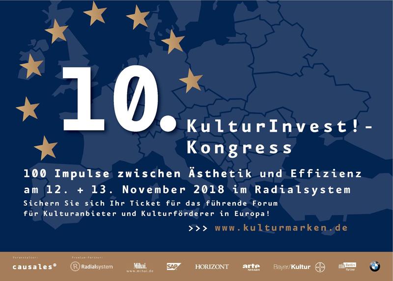 causales_KIK_Anzeige_klein 10. KulturInvest!-Kongress am 12. und 13. November in Berlin - Bis zum 30. Juni Frühbucherrabatt von 60,- Euro sichern!