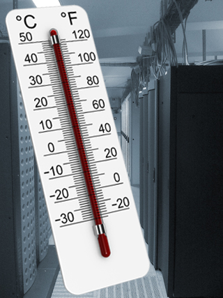 Serverraum Überwachung mit Netzwerk Thermometer