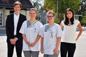 Fünf neue Auszubildende an der Asklepios Klinik im Städtedreieck