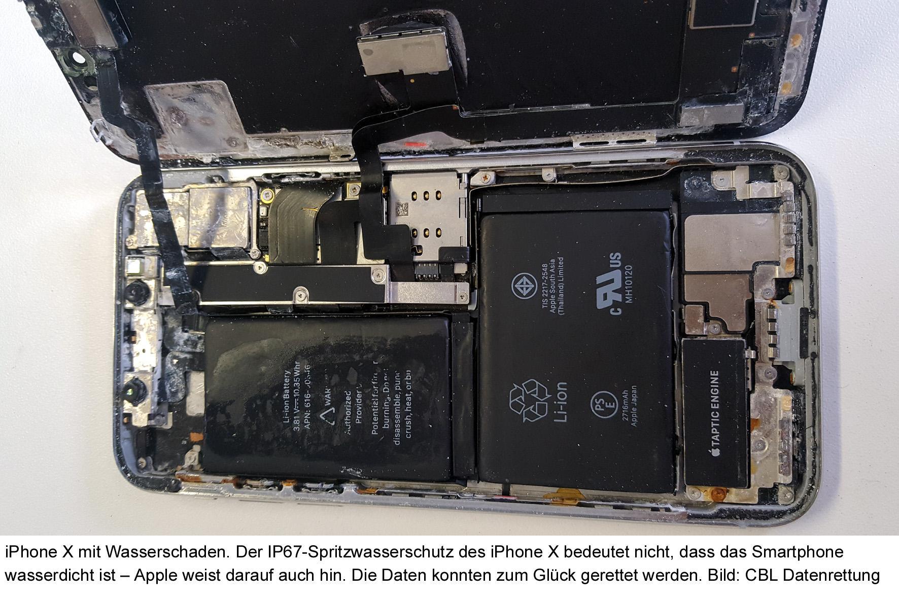 CBL-Datenrettung-iPhoneX-Wasserschaden