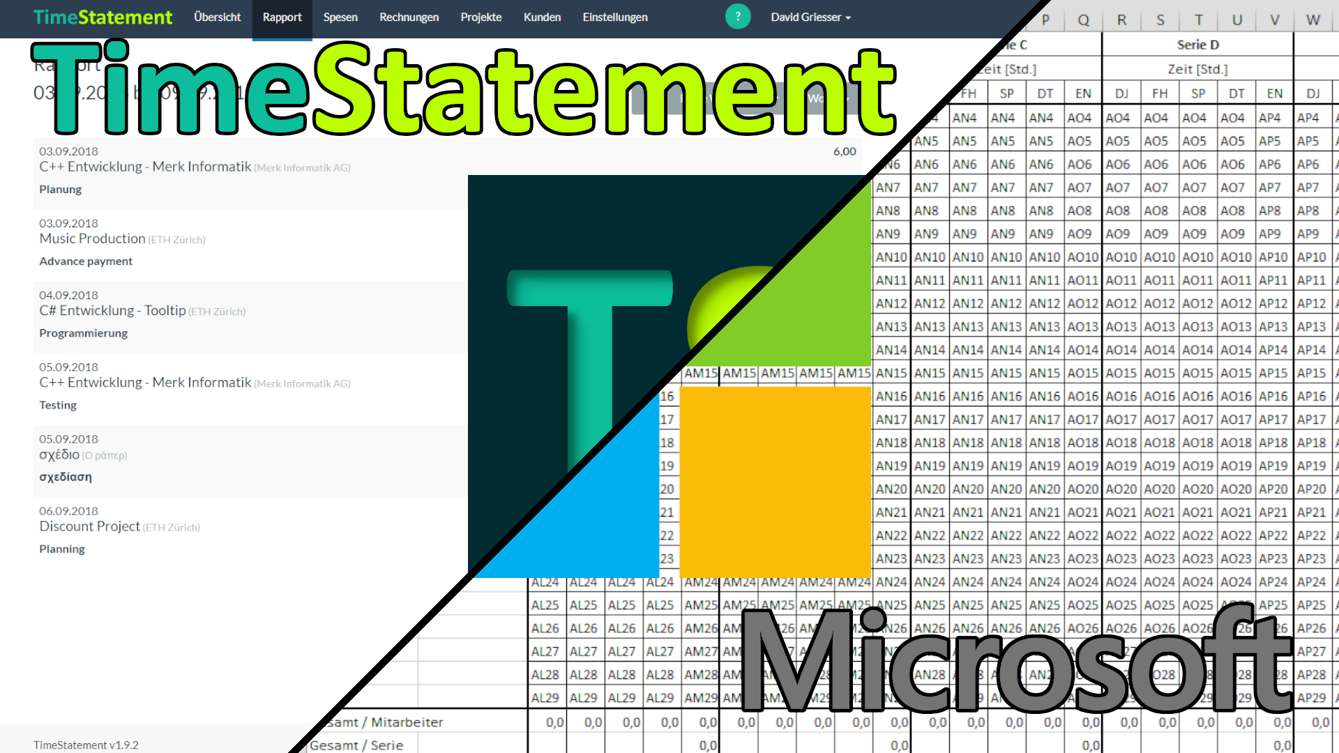 Einfache Zeiterfassung / Leistungserfassung ohne Microsoft Excel