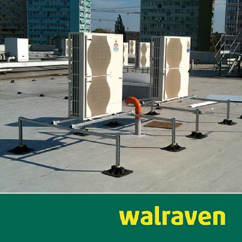 KW40_Freitag_Walraven-Flachdachinstallation-Klimasplitgeräte_neu Aufständerung von Klimasplitgeräten