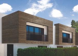 Weitere karbonisierte Holzoberflächen von MOCOPINUS in modernem Design – Strukturierung kombiniert mit Lasur