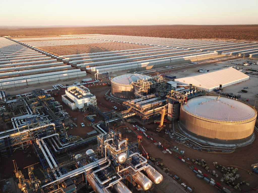 Steam is blowing at Kathu Solar Park in South Africa