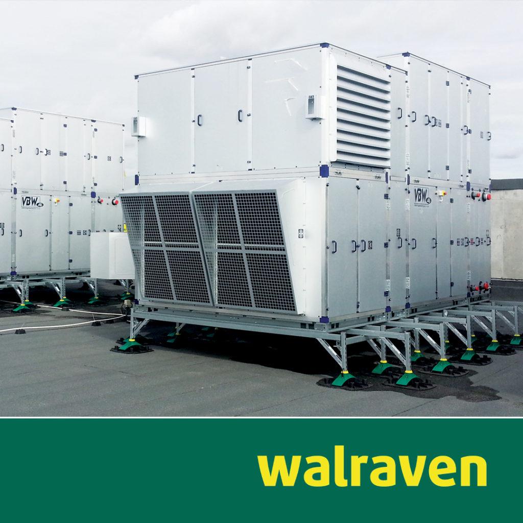 Aufständerung schwerer RLT- und Rückkühlanlagen