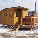 Im Tiny House saunieren und entspannen