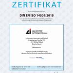 Lahmeyer International erwirbt Umweltzertifizierung