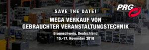 PRG lädt zu riesigem Gebrauchtverkauf professioneller Veranstaltungstechnik in Braunschweig ein