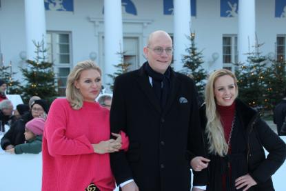 Grand Opening der Eisbahn im Grand Hotel Heiligendamm am Samstag, den 1. Dezember 2018 –Brzeska und Isabel Edvardsson als Magdalena prominente Eröffnungsgäste