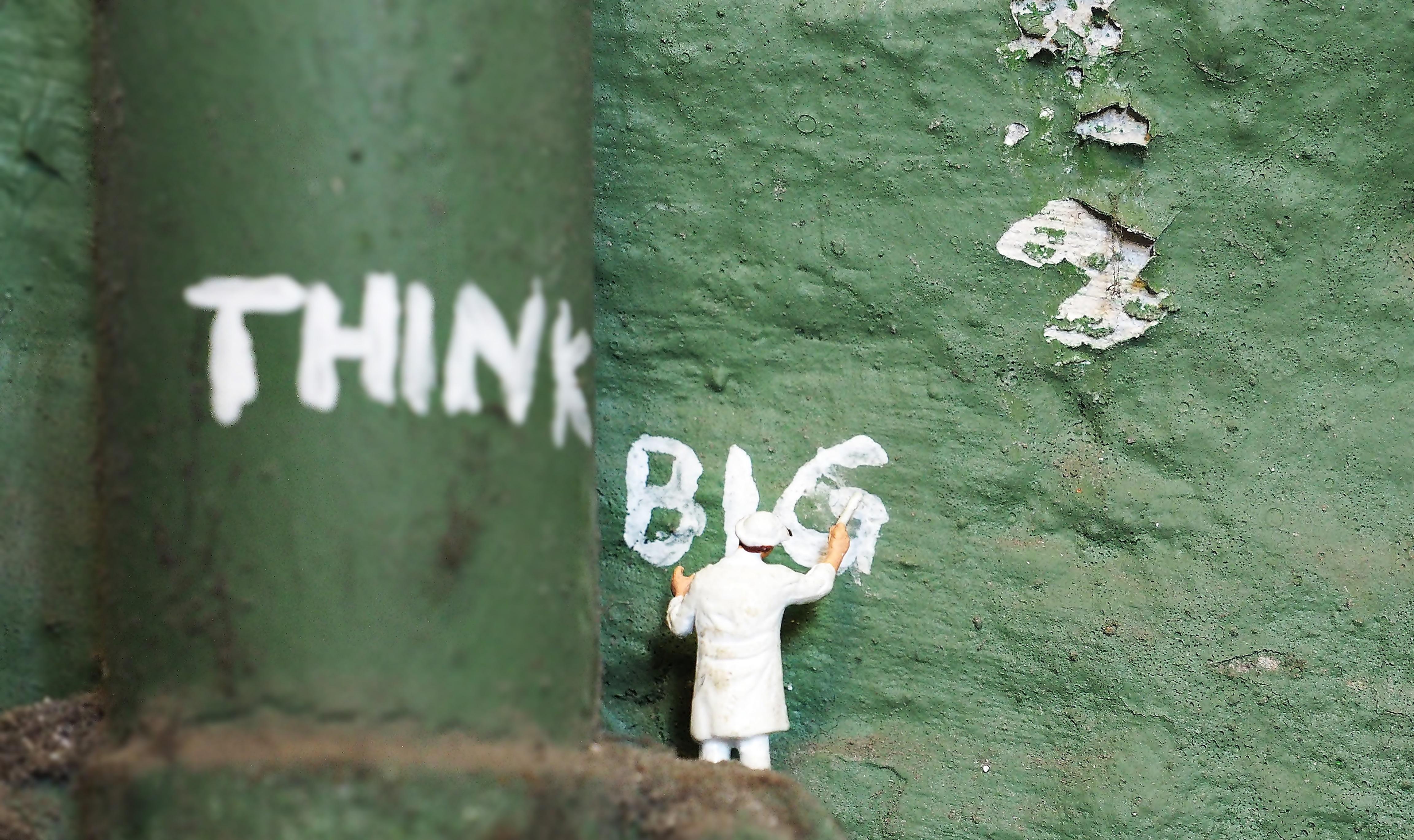 "Schriftzug ""Think Big"""