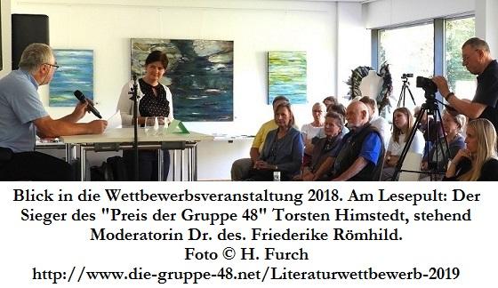 1-Bild Ausschreibung des Literaturwettbewerbs 2019 der Gruppe 48 e.V.