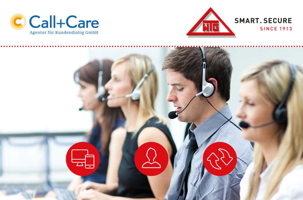WTG und Call+Care sorgen für optimalen Kundenservice