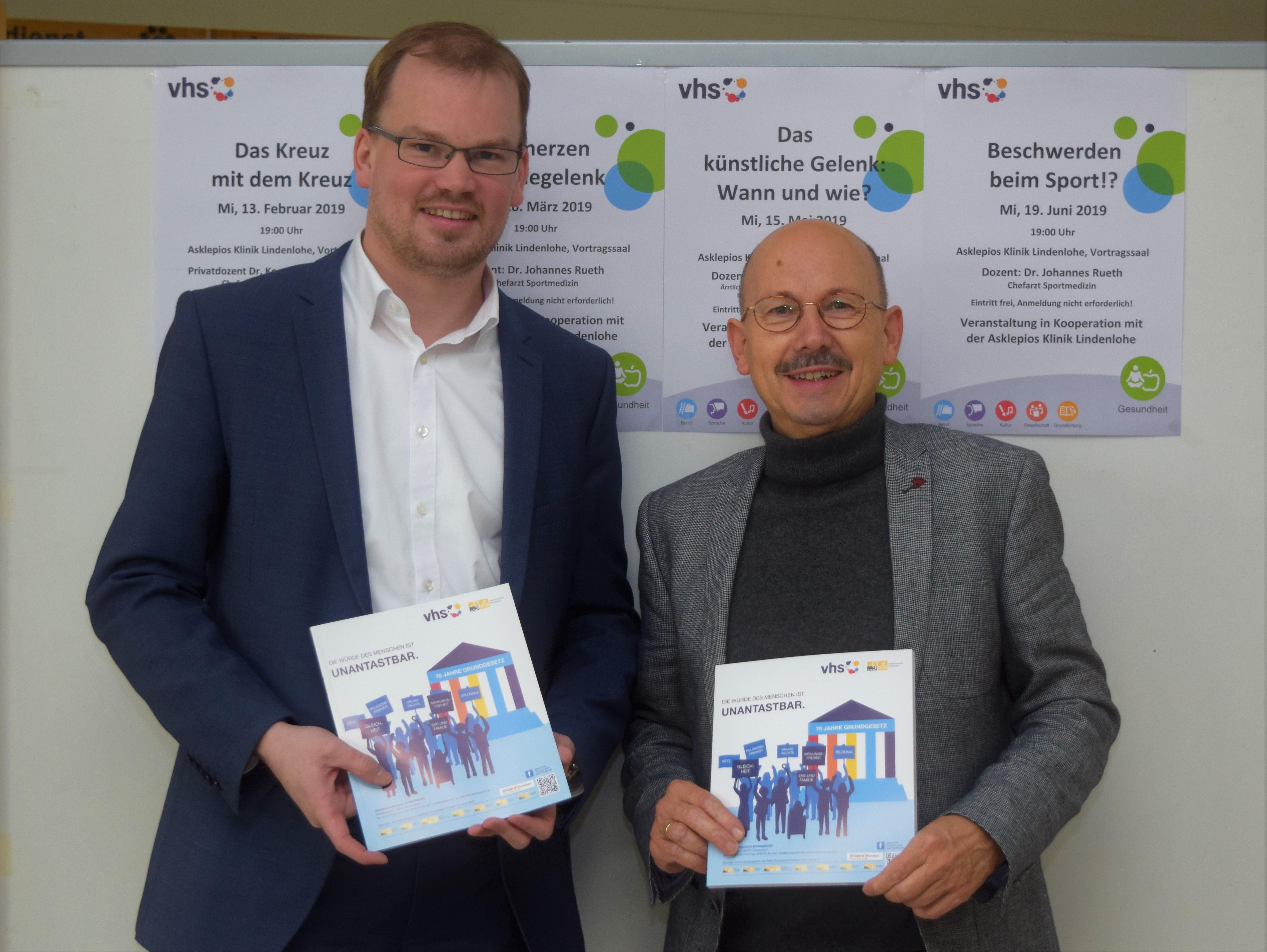 Erhard Sailer (re.) und Marius Aach. (Foto: Bernhard Krebs)