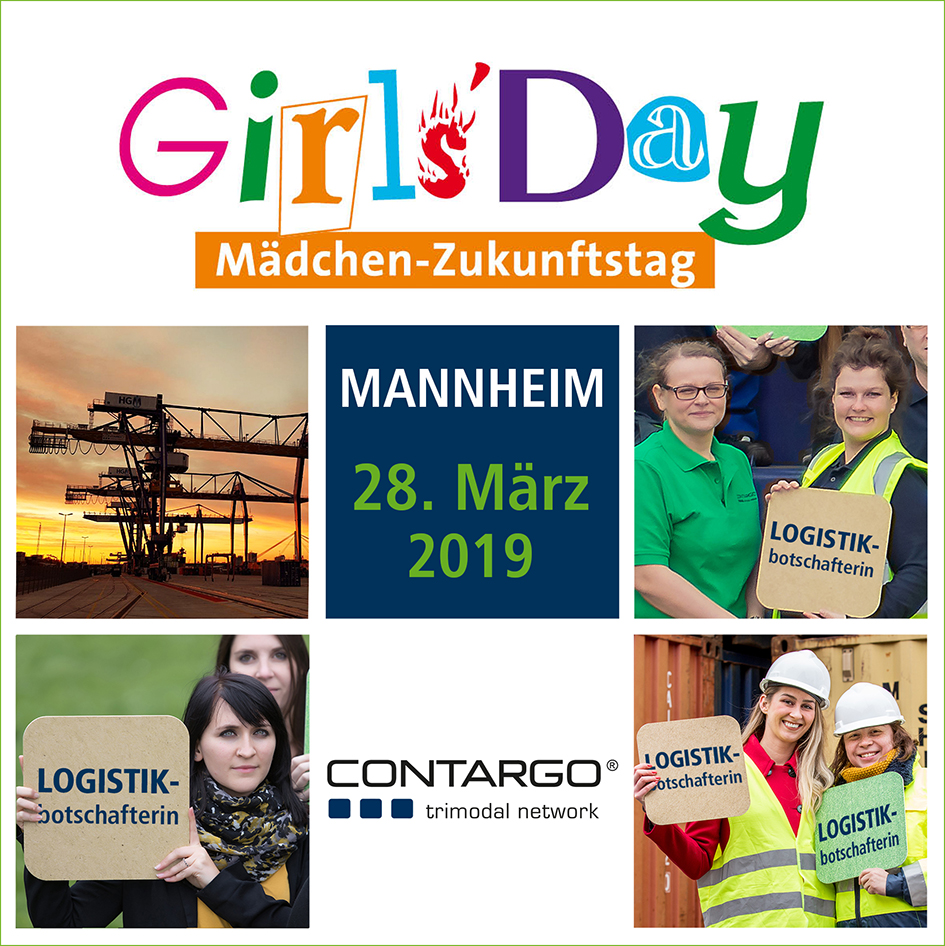 Girls'Day: Contargo bietet in Mannheim eine Terminalbesichtigung für Mädchen an
