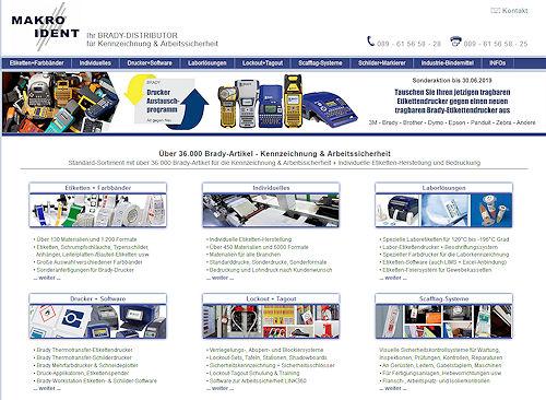 MAKRO-IDENT-Brady-Distributor Über 36.000 Brady-Artikel für Kennzeichnung und Arbeitssicherheit