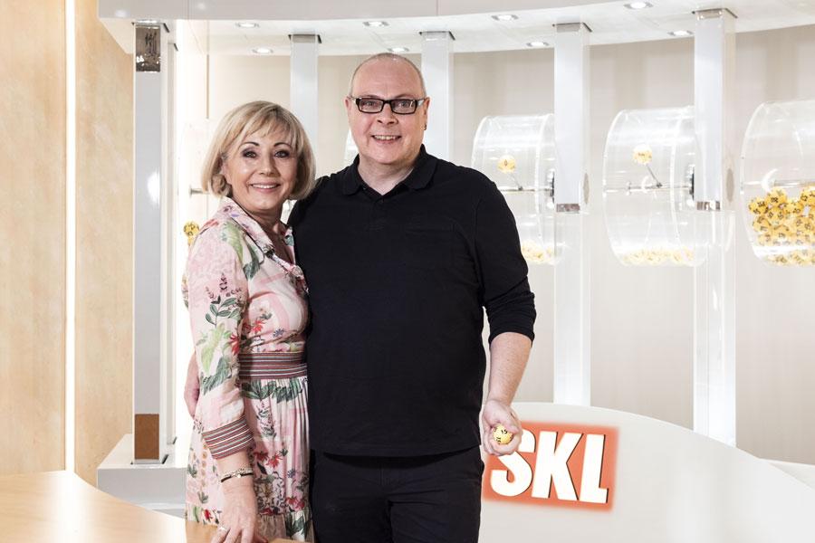 Vesna Vekic und Kandidat für das SKL-Millionen-Event Frank Rossel