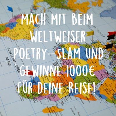 weltweiser Reisestipendium Poetry-Slam