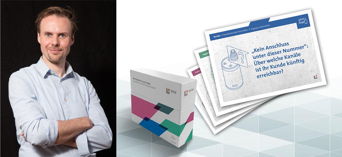 """Alexander Sonntag leitet das Projekt """"Chefsachen"""", das aktuell erweitert wurde. Die Inspirationsbox Digitalisierung enthält einen Kartensatz mit strukturierenden Fragen."""