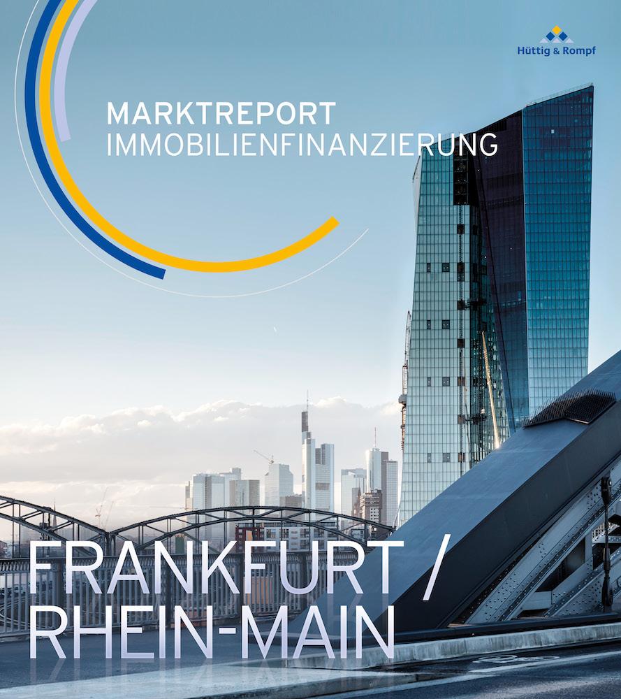 "Titelblatt Marktreport ""Immobilienfinanzierung Frankfurt / Rhein-Main"" – Foto: Hüttig & Rompf"