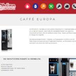 Verboten große Auswahl an Kaffeespezialitäten und Gerichten am Automat Europa