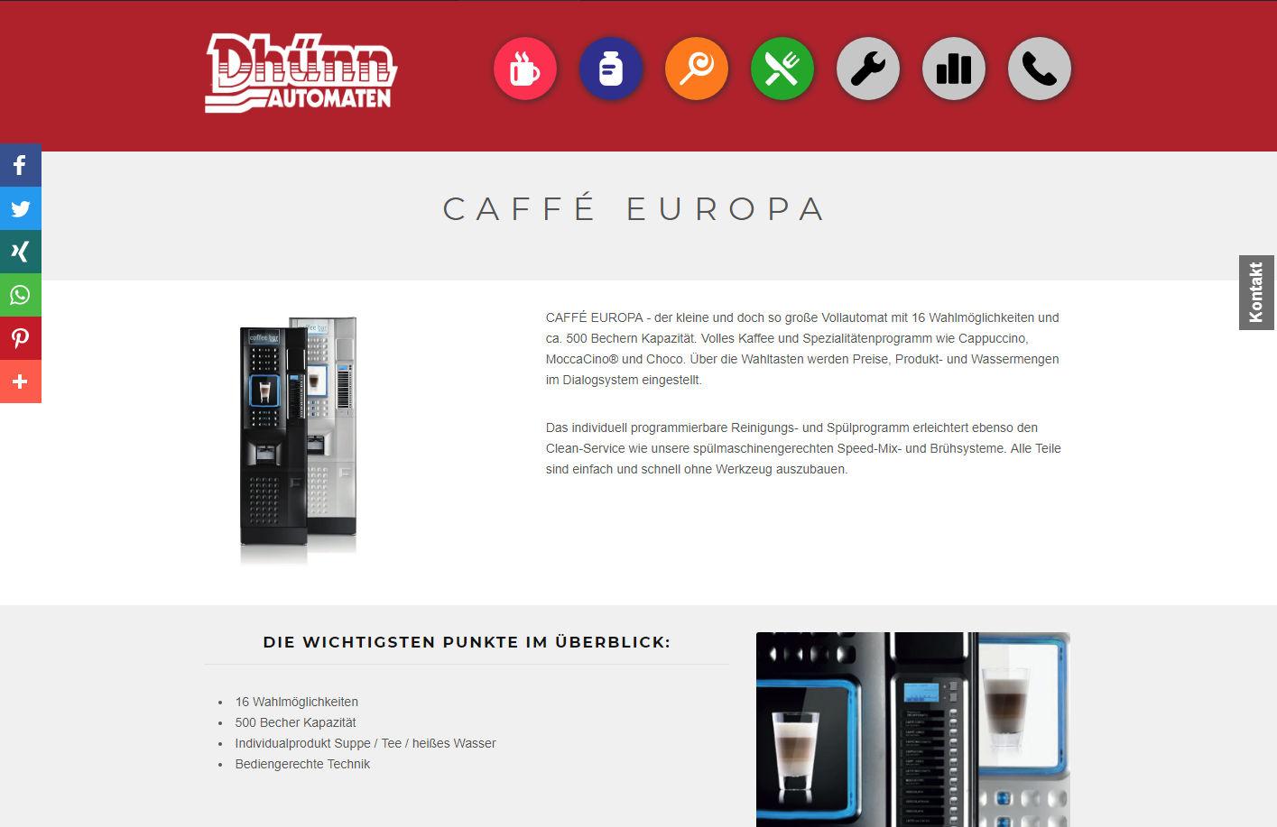 vor europawahl: gericht verbietet wahl-o-mat. Aber verboten grosse auswahl an automaten und gerichten, z.B. Caffe EUROPA