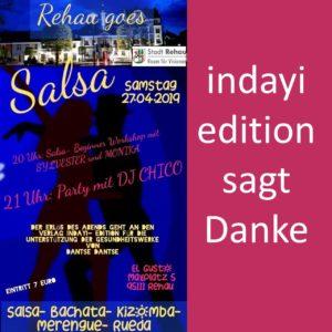 """REHAU goes Salsa"" ertanzt 500 € – indayi edition sagt Danke!"