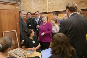 Optimahl übernahm Bewirtung bei Merkel-Besuch im Naturkunde-Museum