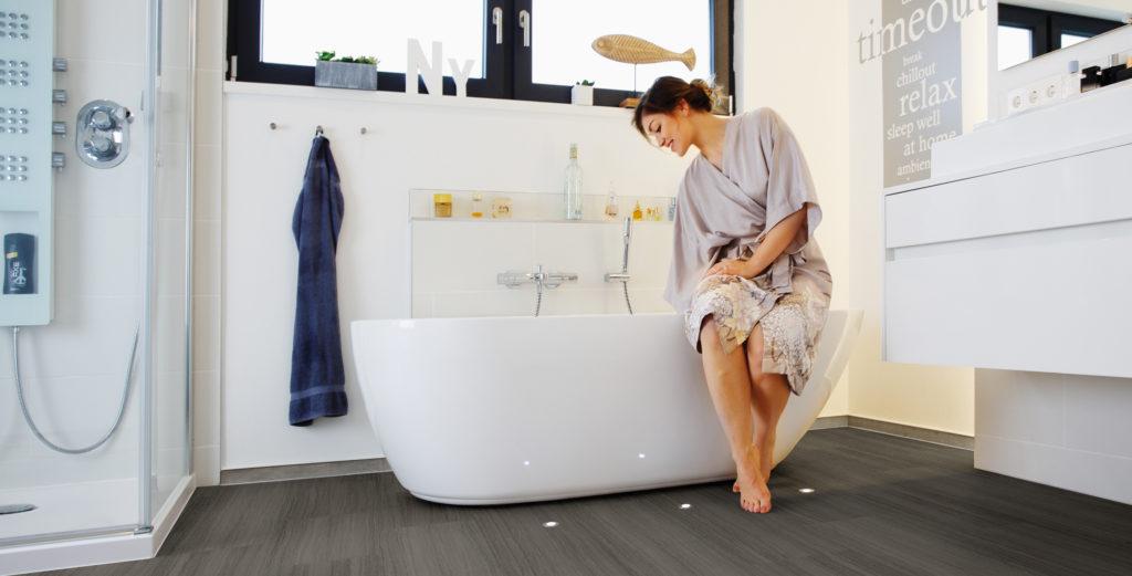 Fußwarmer Boden speziell für's Bad