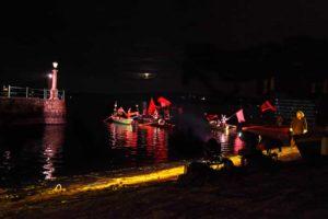 Theater auf dem Wasser in Arona am Lago Maggiore