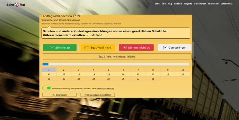 Bahn-o-Mat ist gefragte Wahlhilfe