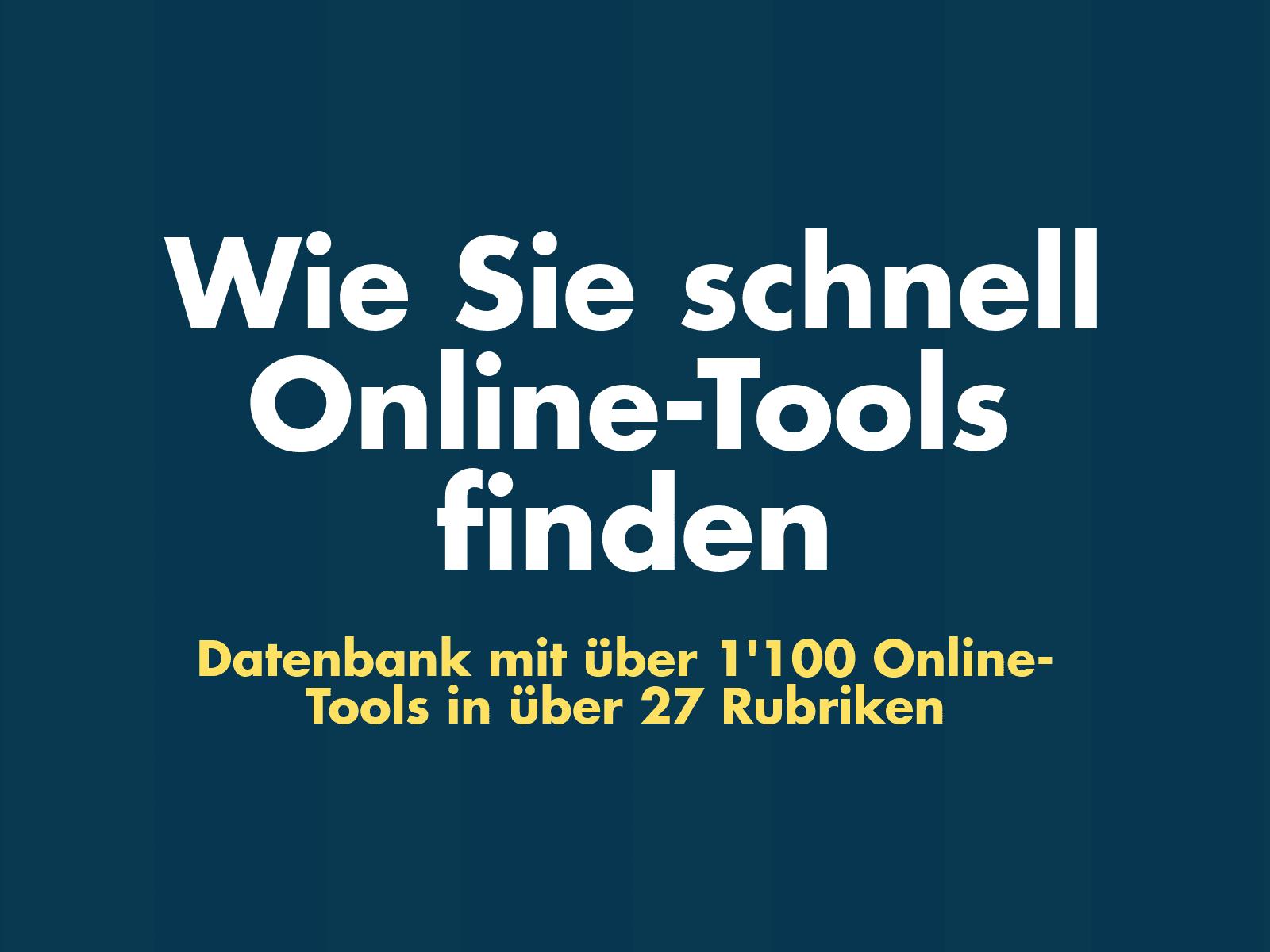 Online-Tools finden