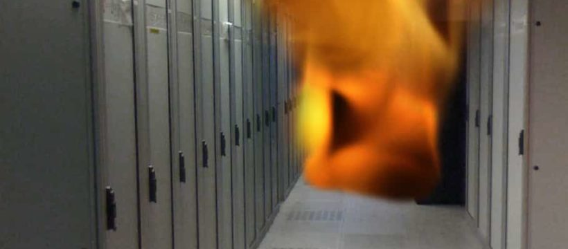 Brand im Serverraum