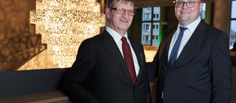 Die beiden Geschäftsführer der S&G Development GmbH: Dr. Ingo Seidemann (li.) und Sven Grundmann. Copyright: W&R IMMOCOM / Tom Dachs