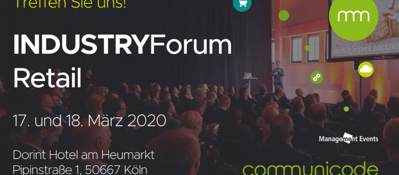communicode beim IndustryForum Retail 2020