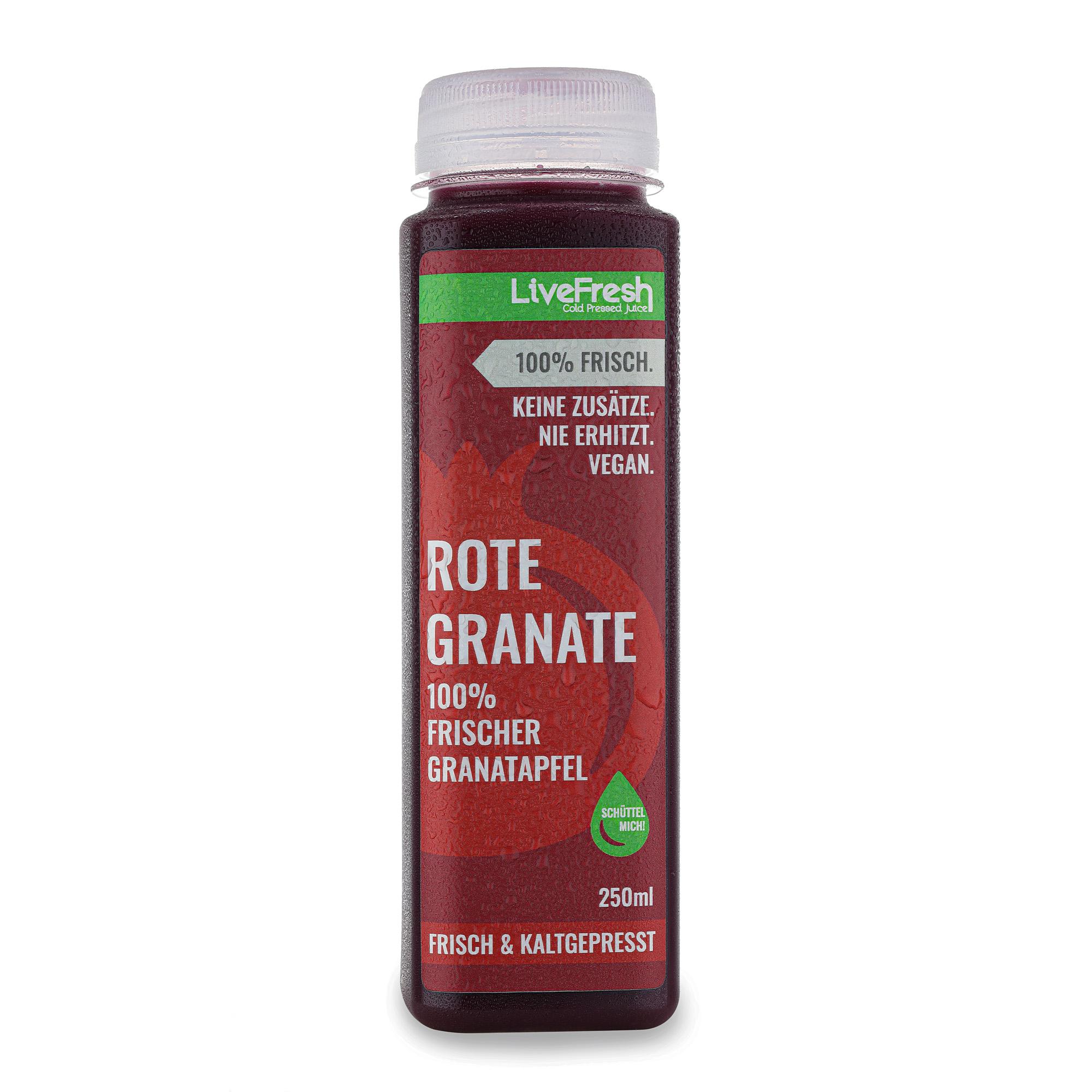 LiveFresh_Rote-Granate Der erste frische Granatapfelsaft von LiveFresh: Rot, sinnlich und voller Power