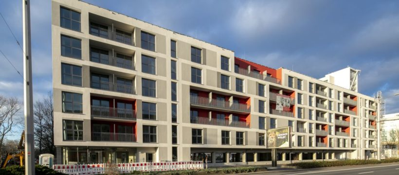 Das Mikro-Apartment-Projekt URBAN BASE DRESDEN in der Grunaer Straße 20. Copyright: Steffen Füssel.