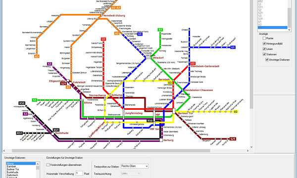 PTraffic Pro Liniennetzplan-Editor