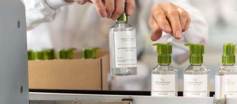 Corona-Krise: Produktionsumstellung bei Marke Yves Rocher - Herstellung von hydroalkoholischem Gel