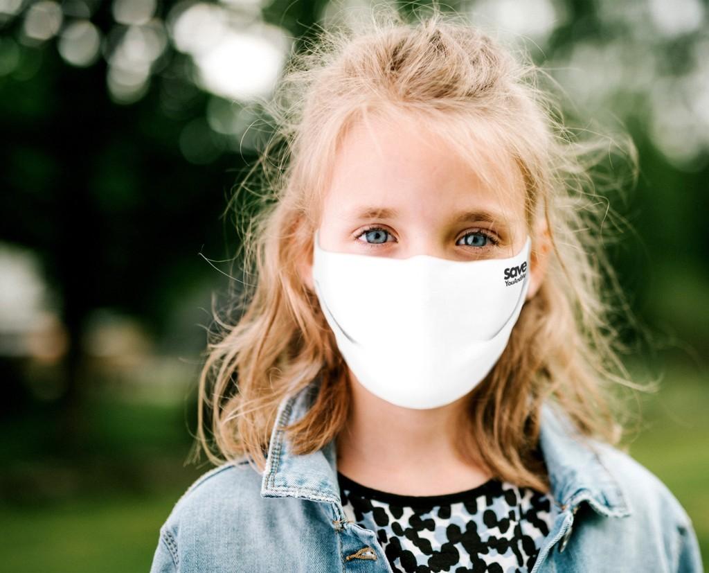 Mädchen-weiß_k Back to School! Bestens geschützt mit den Kinder-Stoffmasken aus 100% Baumwolle mit Spezial-Filter von save YouAndMe by Nagy Collection