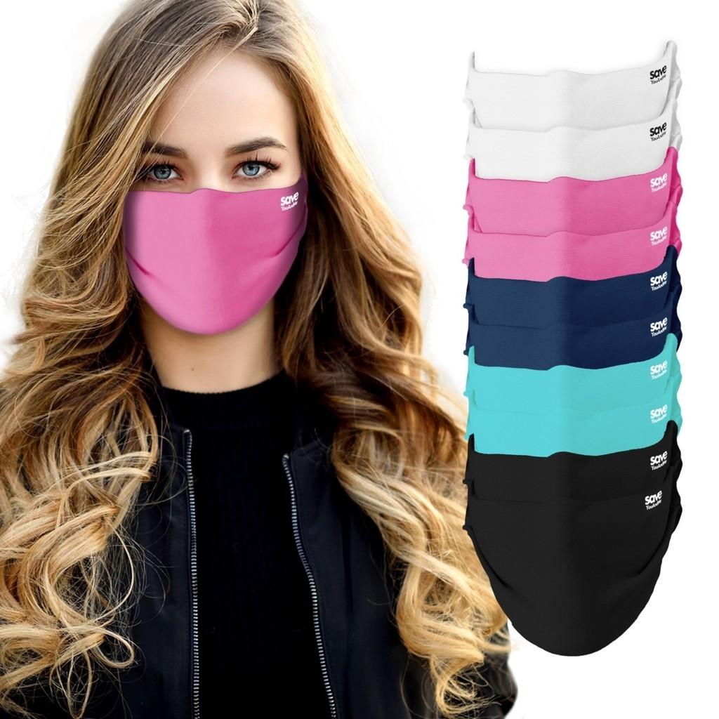Frau-pinke-Maske-k NEU:  Sommer, Sonne, Sonnenmilch? Die Masken von save YouAndMe by Nagy Collection im Urlaubs-Set gehören mit in die Reiseapotheke