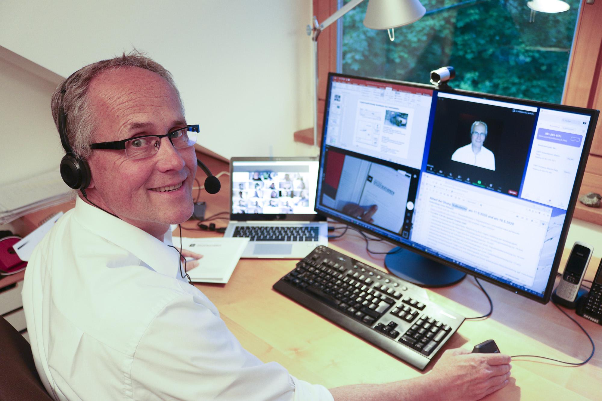 Professor_Martin_Delp Umstellung auf Online-Lehre in Rekordzeit