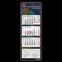 5-Monatskalender von terminic mit dunkler Rückwand im Mandala-Design