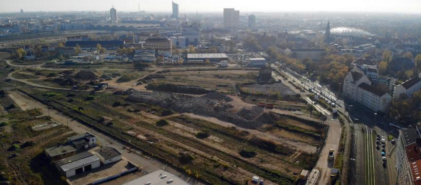Gelände Eutritzscher Freiladebahnhof. Quelle: IMMOCOM