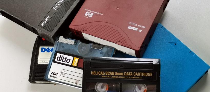 Daten auf alten Bändern – CBL Datenrettung hilft bei der Migration, Konvertierung oder gar Rekonstruktion von Daten in veralteten Formaten. Bild: CBL Datenrettung