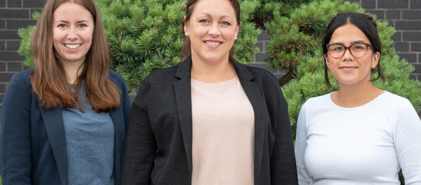 Neu im terminic-Team: Julia Perleberg, Wioletta Januszewski und Andrea Stehmeier (v.l.n.r.)